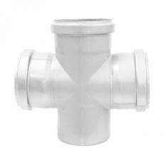 Abflussrohr-Doppelabzweig 87,5° aus Edelstahl