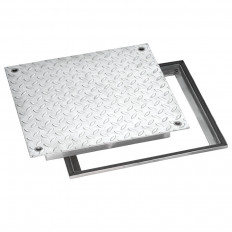 Schachtabdeckung 400 x 400 Edelstahl V2A