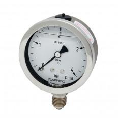 Edelstahlmanometer Ø 63 mm, Glyzerinfüllung
