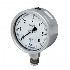 Edelstahlmanometer Ø 100 mm, Glyzerinfüllung