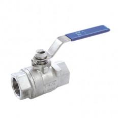3-Wege-Kugelhahn mit ISO Anbauplatte, L - Bohrung Edelstahl