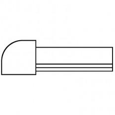 Fliesenschiene Eckstift Edelstahl K220-geschliffen