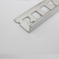 Fliesenschiene Abschlussprofil Edelstahl 3D-poliert 3m