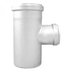 Abflussrohr-Abzweig 87,5° reduziert aus Edelstahl