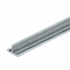 Fliesenschiene T-Profil Edelstahl K220-geschliffen 14mm 2,5m