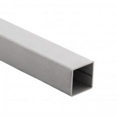Edelstahl-Vierkantrohr blank 6m
