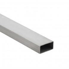 Edelstahl-Vierkantrohr blank 1m